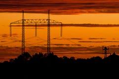 Linhas eléctricas elétricas Imagens de Stock Royalty Free