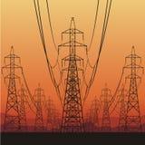 Linhas eléctricas elétricas ilustração royalty free