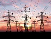 Linhas eléctricas elétricas Foto de Stock Royalty Free