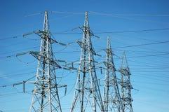 Linhas eléctricas elétricas Fotografia de Stock