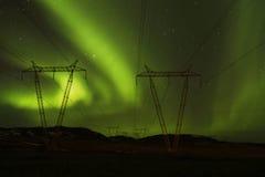 Poder à aurora boreal imagens de stock royalty free