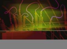 Linhas eléctricas mim Foto de Stock