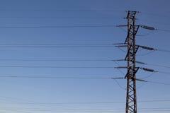 Linhas elétricas imagens de stock