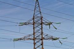 Linhas elétricas da torre Imagens de Stock Royalty Free