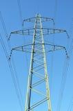 Linhas elétricas de alta tensão Fotografia de Stock Royalty Free