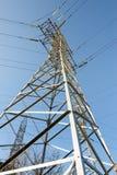 Linhas elétricas de alta tensão Imagens de Stock Royalty Free