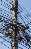 linhas elétricas desordenadas Foto de Stock