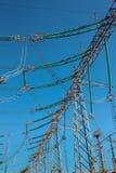 Linhas elétricas elétricas feitas sob medida industriais de alta tensão Imagem de Stock Royalty Free
