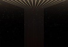 Linhas elegantes fundo com céu noturno no fundo ilustração do vetor