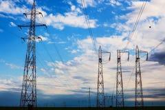 Linhas elétricas Fotos de Stock Royalty Free