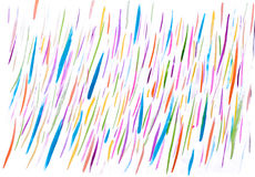Linhas feitos a mão do sumário colorido da aquarela fotos de stock