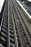 Linhas ferroviárias Imagens de Stock Royalty Free