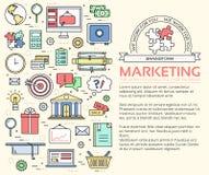 Linhas finas conceito do infographics do negócio do molde Os ícones projetam para seu produto ou projeto, Web e aplicações móveis Fotografia de Stock
