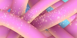 Linhas fluidas amarelas roxas abstratas no estilo 3d Bandeira para o texto Fundo para um cartão do convite ou umas felicitações L Fotografia de Stock Royalty Free