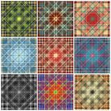 Linhas geométricas coloridas coleção do fundo da ilustração do vetor Imagens de Stock Royalty Free