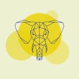 Linhas geométricas principais do elefante ilustração do vetor