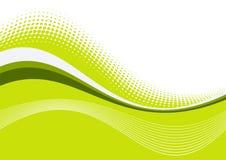 Linhas graciosas onduladas verdes Imagem de Stock