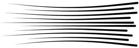 Linhas grupo isolado da velocidade Sun ilustração royalty free