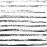 Linhas horizontais do carvão vegetal Textura preta mão-crafted vetor ilustração stock