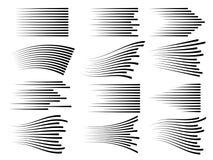 Linhas horizontais do movimento da velocidade Linha rápida símbolos do vetor isolados ilustração stock