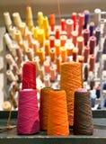 Linhas industriais de matéria têxtil Imagem de Stock