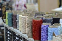 Linhas industriais de matéria têxtil Foto de Stock Royalty Free