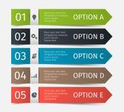 Linhas infographic modernas ajustadas Molde para a apresentação, carta, gráfico Vetor Foto de Stock