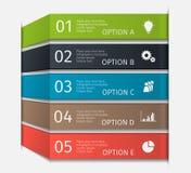 Linhas infographic modernas ajustadas Molde para a apresentação, carta, gráfico Vetor Imagens de Stock