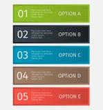 Linhas infographic modernas ajustadas Molde para a apresentação, carta, gráfico Vetor Fotografia de Stock