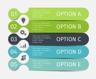 Linhas infographic modernas ajustadas Molde para a apresentação, carta, gráfico Vetor Foto de Stock Royalty Free