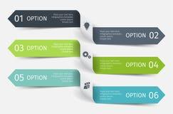 Linhas infographic modernas ajustadas Molde para a apresentação, carta, gráfico Vetor Fotografia de Stock Royalty Free