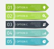 Linhas infographic modernas ajustadas Molde para a apresentação, carta, gráfico Vetor Imagem de Stock Royalty Free