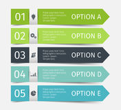 Linhas infographic modernas ajustadas Molde para a apresentação, carta, gráfico Vetor Fotos de Stock Royalty Free