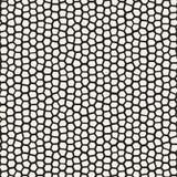Linhas irregulares sem emenda teste padrão de mosaico do vetor Textura caótica abstrata do tessellation ilustração stock