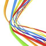Linhas isoladas no branco Fotografia de Stock