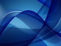 Linhas lisas azuis Fotos de Stock Royalty Free