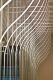 Linhas modeladas de lâmpadas elétricas. Fotos de Stock Royalty Free