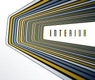 Linhas modernas na moda do sumário 3D no fundo do vetor da perspectiva, elemento fresco do projeto dimensional, disposição funky  ilustração royalty free