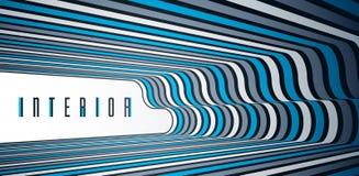 Linhas modernas na moda do sumário 3D no fundo do vetor da perspectiva, elemento fresco do projeto dimensional, disposição funky  ilustração do vetor