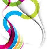 Linhas Multicolor fundo da curva e da onda ilustração royalty free