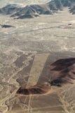 Linhas mundialmente famosas e Geoglyphs de Nazca, Peru fotos de stock royalty free