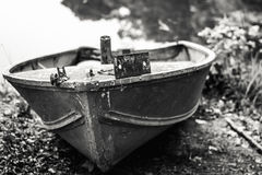 Linhas náuticas em um barco a remos pequeno Imagem de Stock Royalty Free