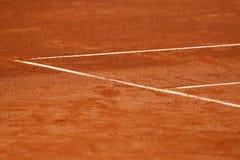 Linhas na corte de tênis Imagens de Stock