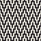 Linhas nervosas de intervalo mínimo textura à moda infinita do mosaico Teste padrão preto e branco sem emenda do vetor Imagem de Stock