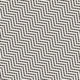 Linhas nervosas de intervalo mínimo textura à moda infinita do mosaico Teste padrão preto e branco sem emenda do vetor Fotos de Stock