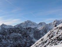 Linhas no céu azul Foto de Stock Royalty Free