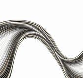 Linhas onduladas abstratas ilustração do vetor