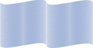 Linhas onduladas azuis Fotografia de Stock Royalty Free