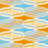 Linhas onduladas geométricas teste padrão Foto de Stock Royalty Free