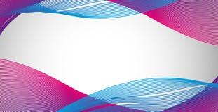 Linhas onduladas roxas azuis do nad no papel Fotos de Stock Royalty Free